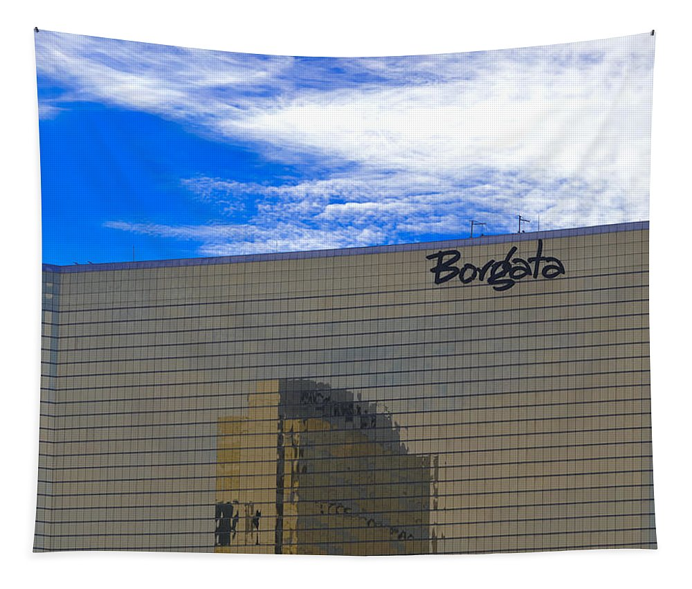 Borgata Tapestry featuring the mixed media Borgata by Trish Tritz