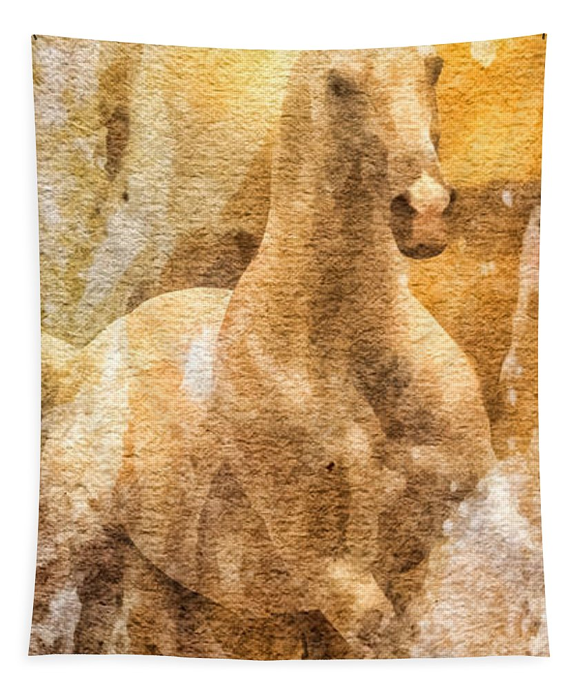 Born To Be Free Tapestry featuring the painting Born To Be Free by Mo T