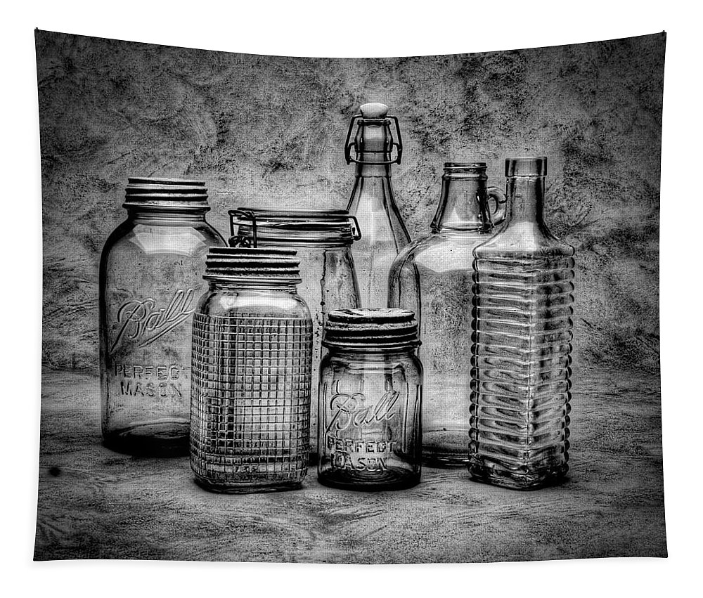 Bottles Tapestry featuring the photograph Bottles by Timothy Bischoff