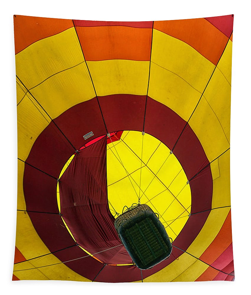 Adventure Tapestry featuring the photograph Bottoms Up Hot Air Balloon by Thomas Woolworth