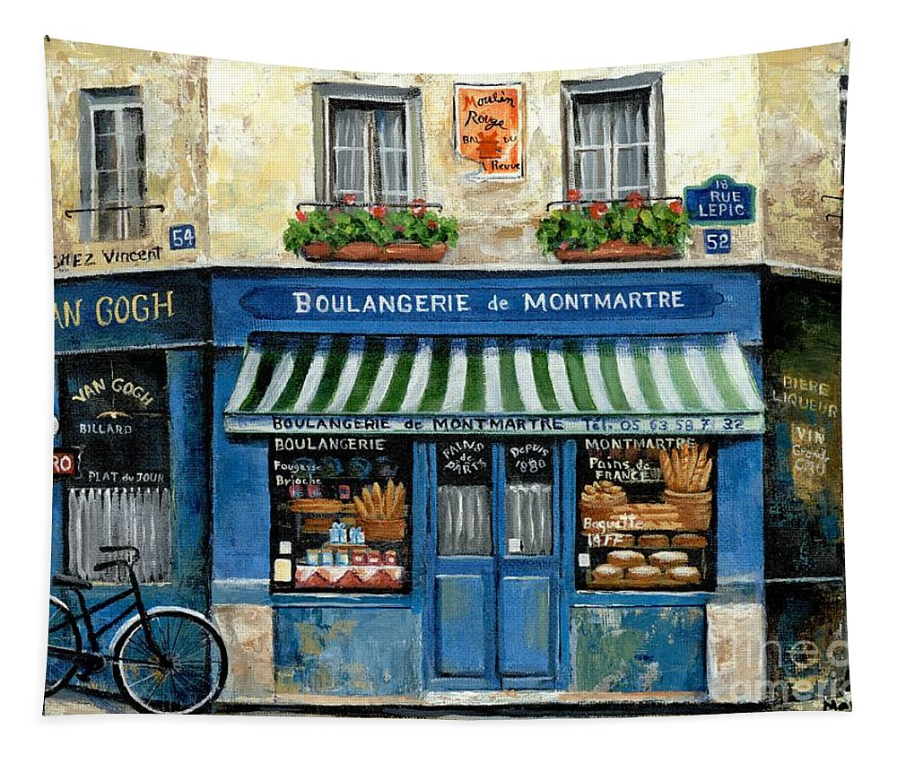 Europe Tapestry featuring the painting Boulangerie De Montmartre by Marilyn Dunlap