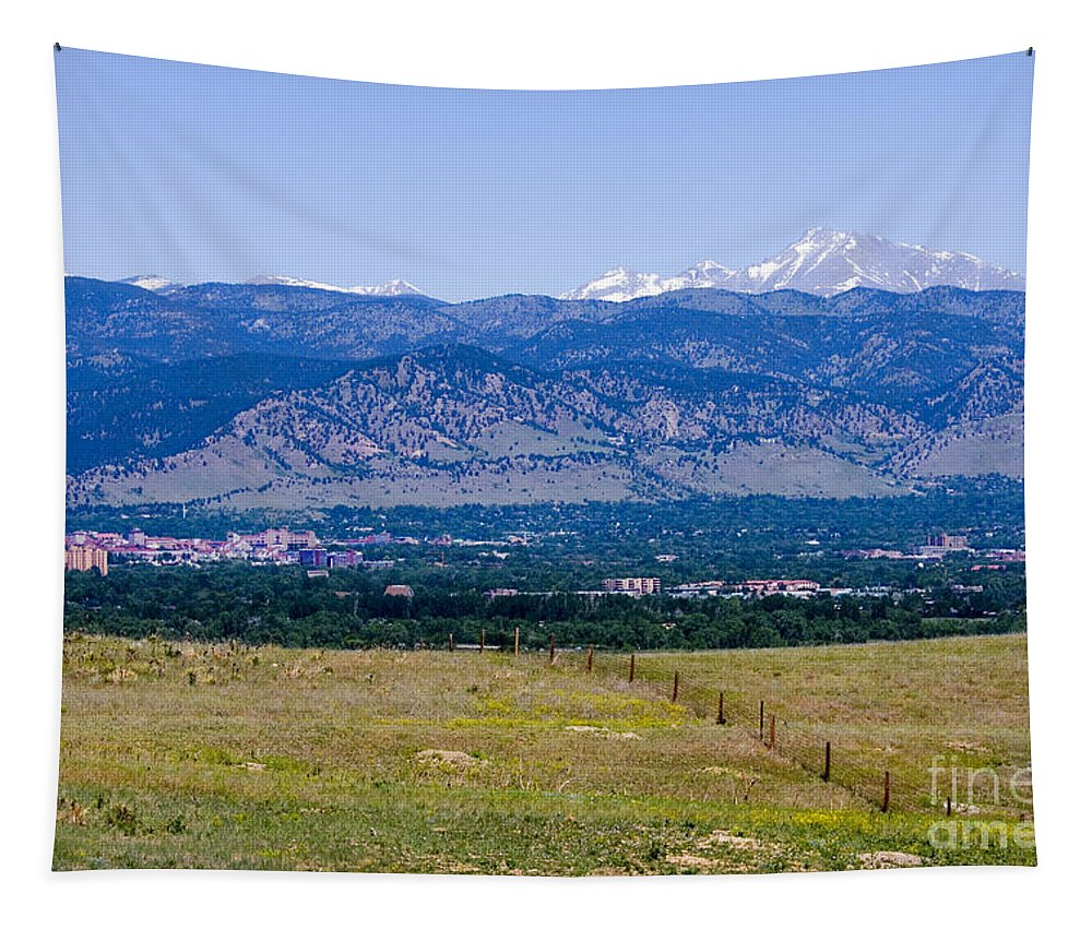 Boulder Tapestry featuring the photograph Boulder In The Summertime by Steve Krull