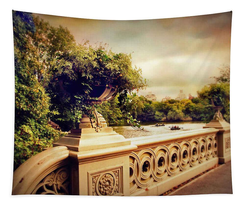 Bow Bridge Tapestry featuring the photograph Bow Bridge View by Jessica Jenney