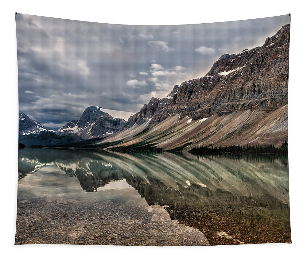 Bow Lake Tapestry featuring the photograph Bow Lake by Kathleen Bishop