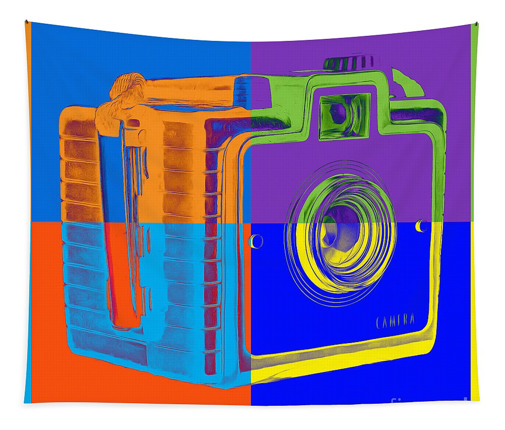 Box Tapestry featuring the photograph Box Camera Pop Art 1 by Edward Fielding