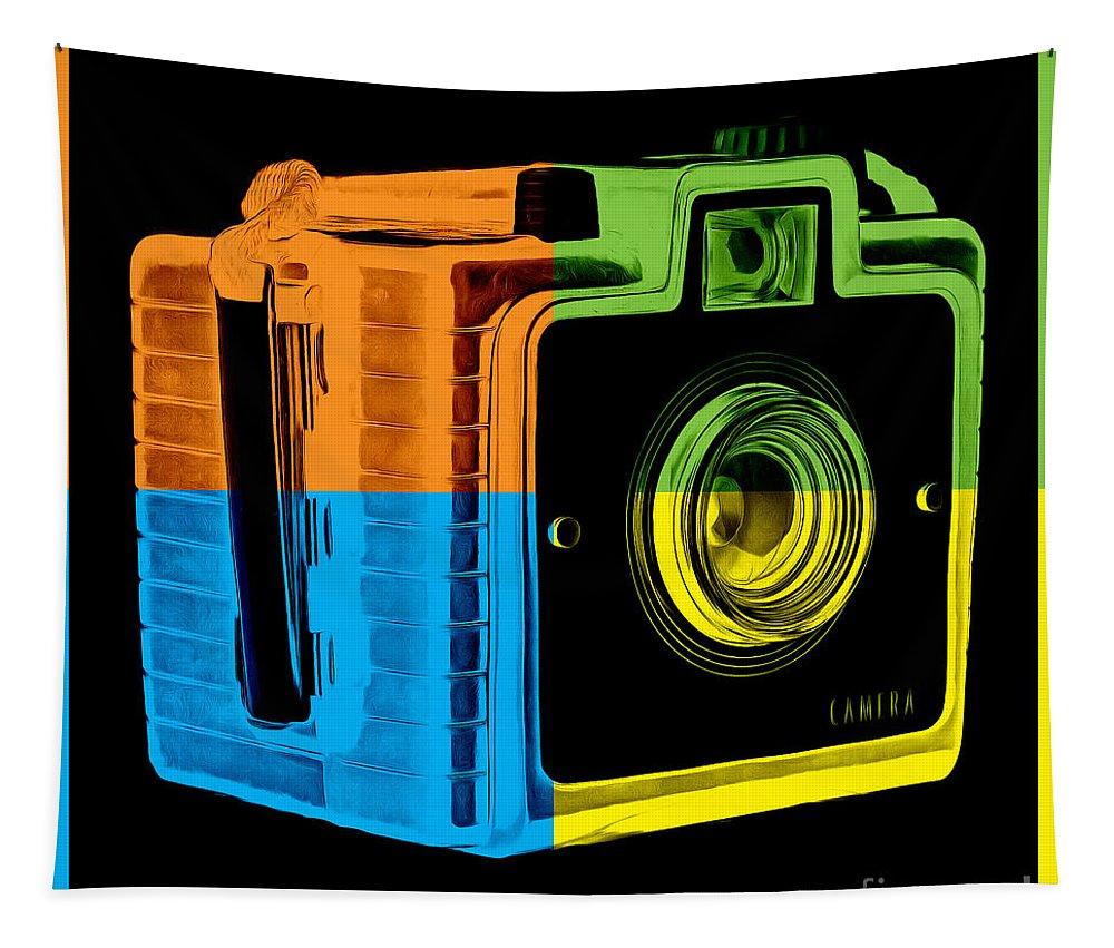 Box Tapestry featuring the photograph Box Camera Pop Art 2 by Edward Fielding