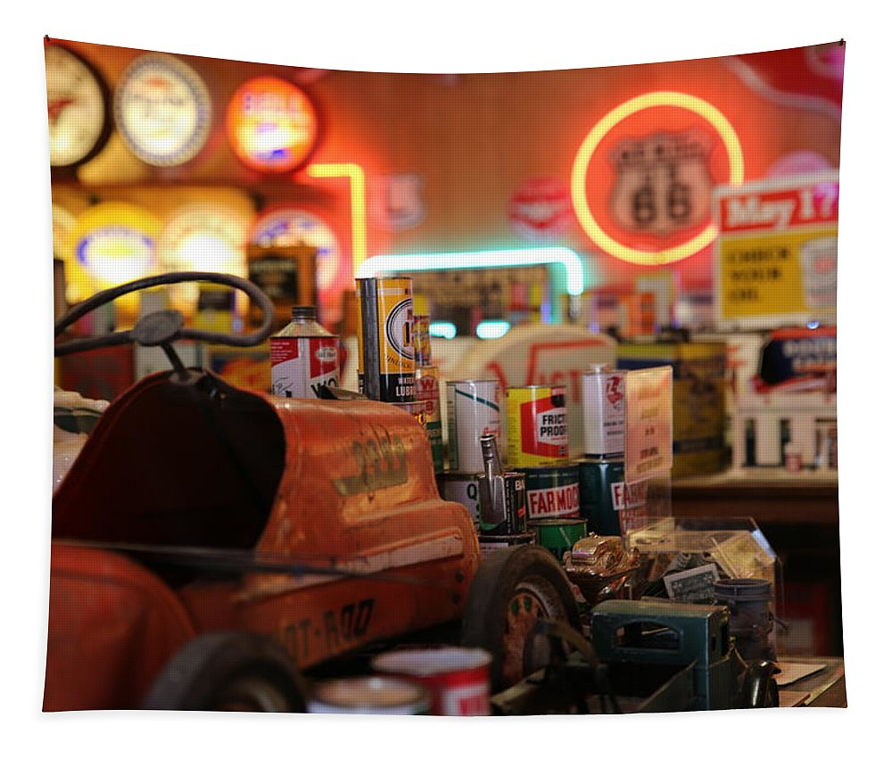 Route 66 Tapestry featuring the photograph Boy Toys by Lynn Sprowl