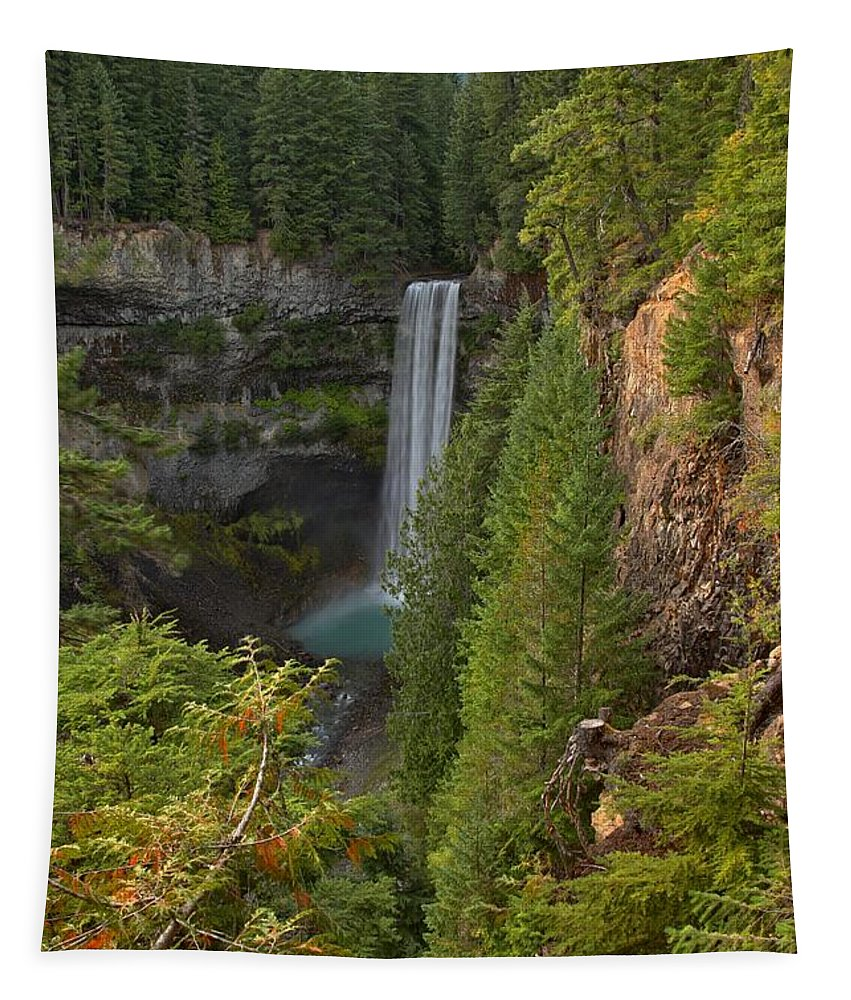 Brandywine Falls Tapestry featuring the photograph Brandywine Falls Plunge by Adam Jewell