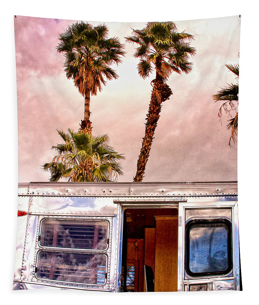 Airstream Tapestry featuring the photograph Breezy Day Palm Springs by William Dey