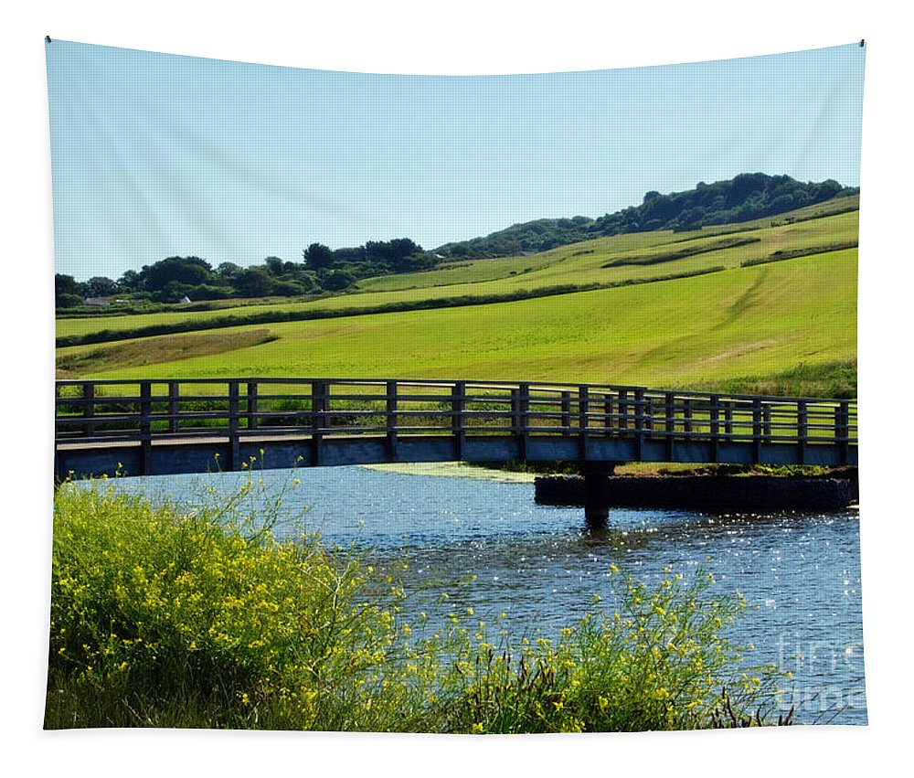 Charmouth Tapestry featuring the photograph Bridge At Charmouth by Susie Peek
