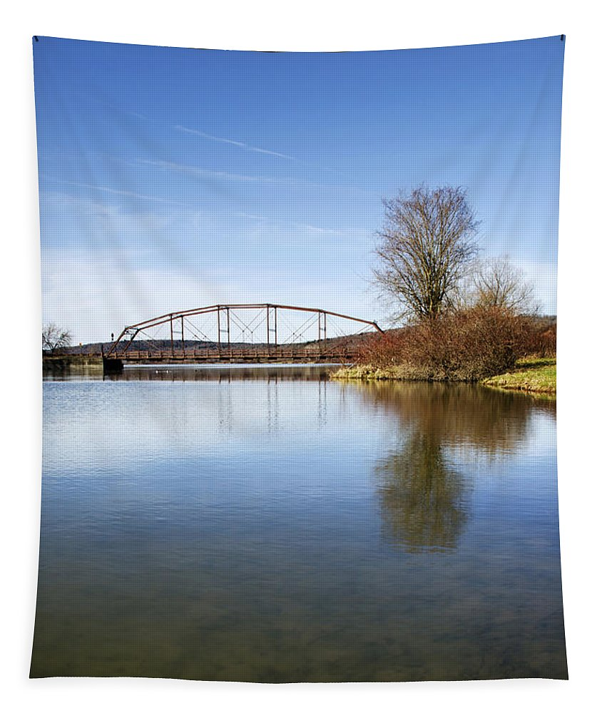 Bridge Tapestry featuring the photograph Bridge At Upper Lisle by Christina Rollo