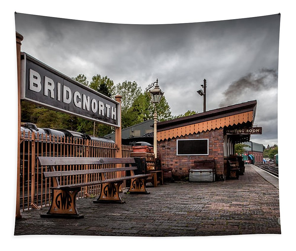 British Tapestry featuring the photograph Bridgnorth Railway Station by Adrian Evans