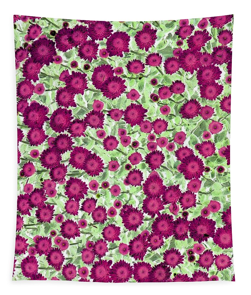 Flower Tapestry featuring the photograph Brilliant Bunch - Photopower 1731 by Pamela Critchlow