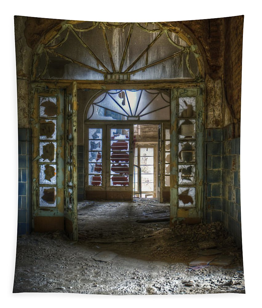 Beelitz Tapestry featuring the digital art Broken Beauty by Nathan Wright
