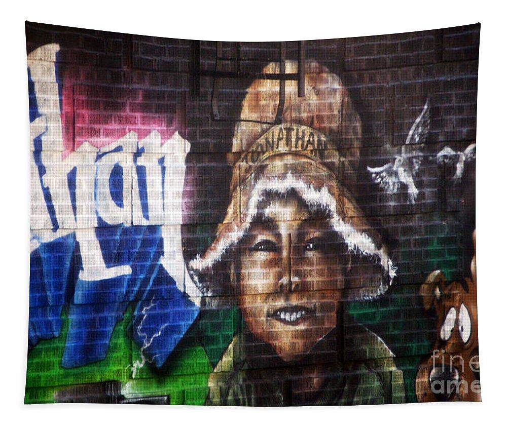 Newyork08 Tapestry featuring the photograph Bronx Graffiti. Jonathan by RicardMN Photography