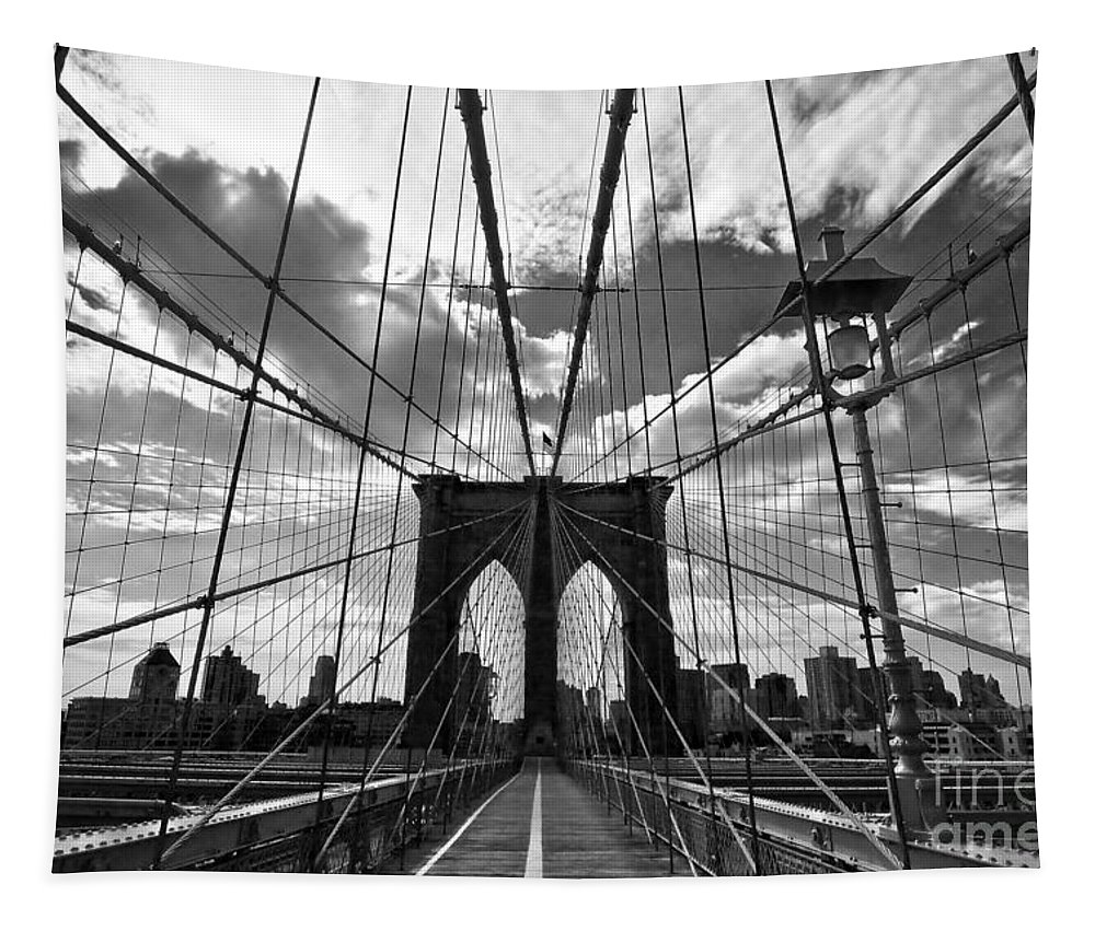 Brooklyn Bridge Tapestry featuring the photograph Brooklyn Bridge by Delphimages Photo Creations