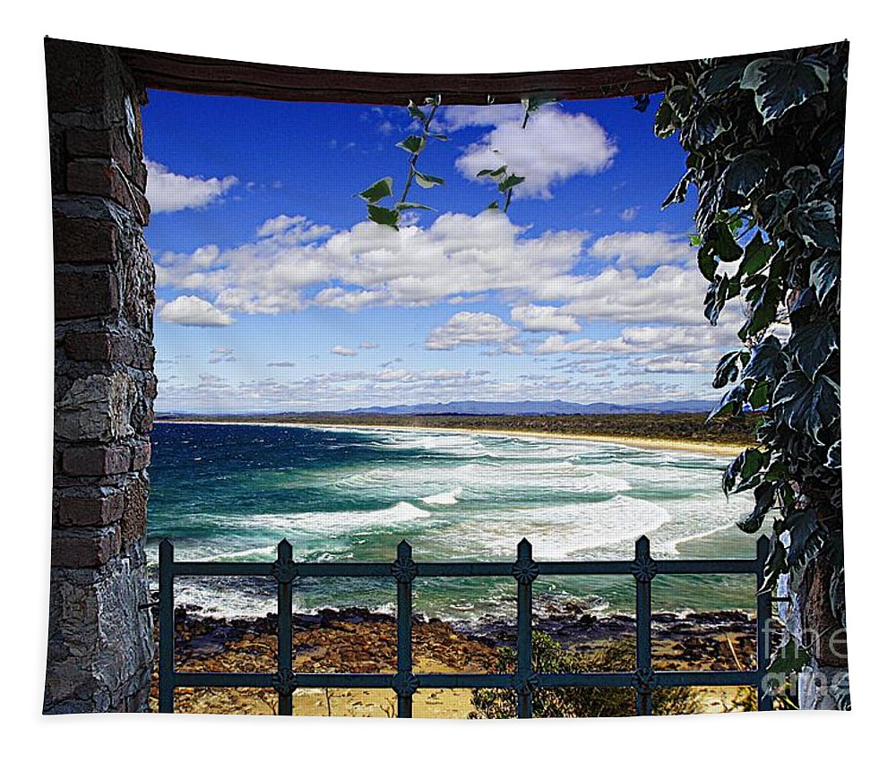 Broulee Tapestry featuring the photograph Broulee Beach by Ben Yassa