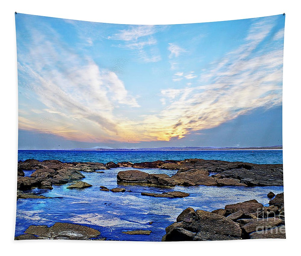 Seascape Tapestry featuring the photograph Broulee by Ben Yassa