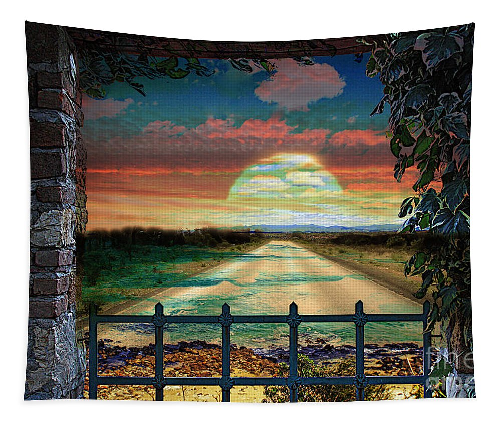 Broulee Tapestry featuring the photograph Broulee Senset by Ben Yassa