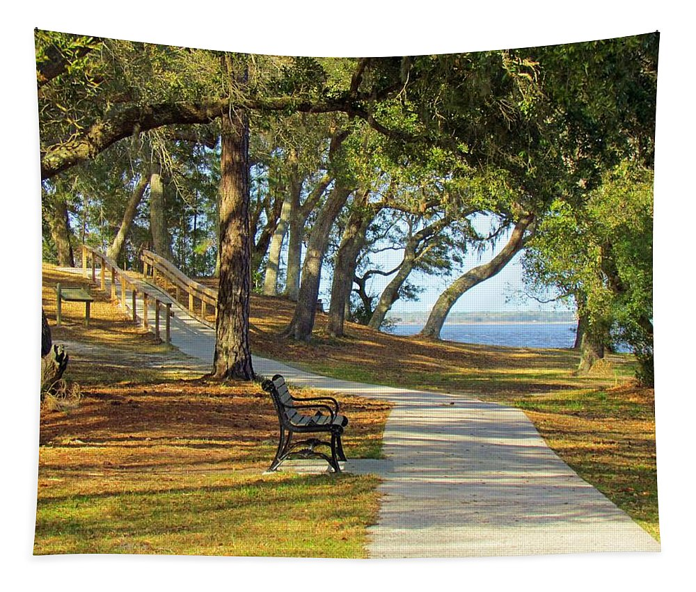 Woods Tapestry featuring the photograph Brunswick Town by Cynthia Guinn