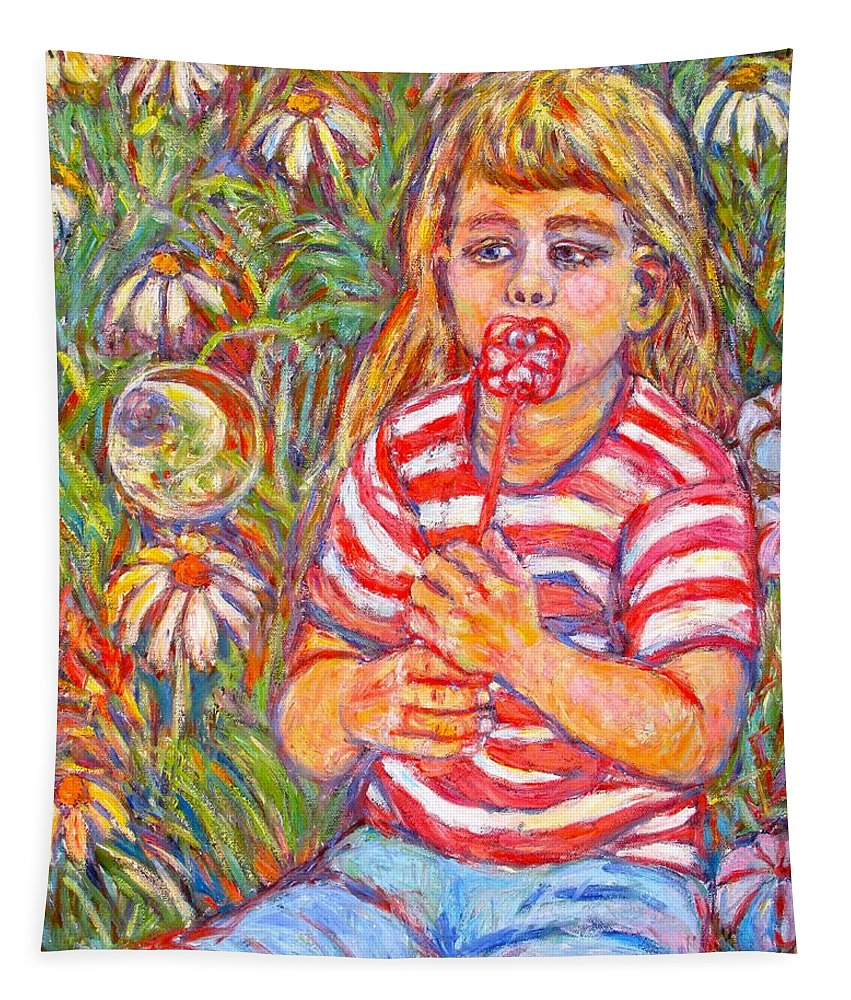 Bubble Tapestry featuring the painting Bubble by Kendall Kessler