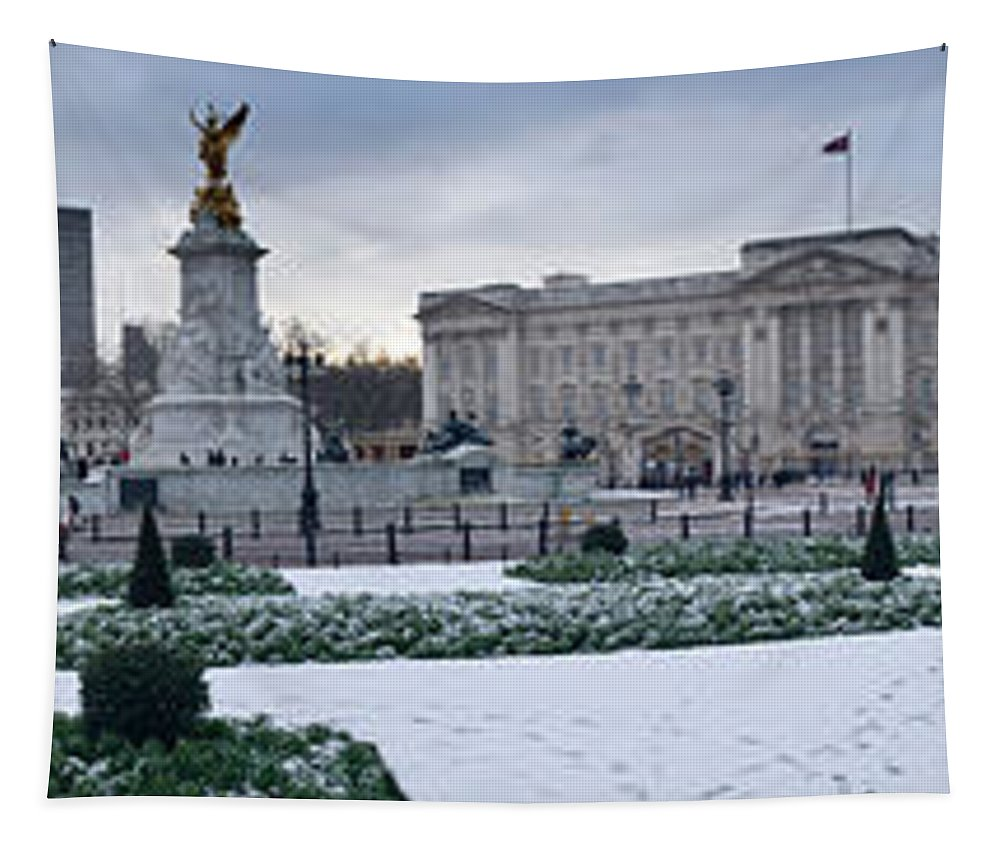 Photography Tapestry featuring the photograph Buckingham Palace In Winter, City by Panoramic Images