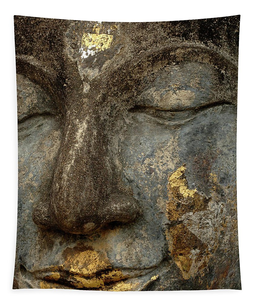 Khmier Tapestry featuring the photograph Buddha Thailand 1 by Bob Christopher