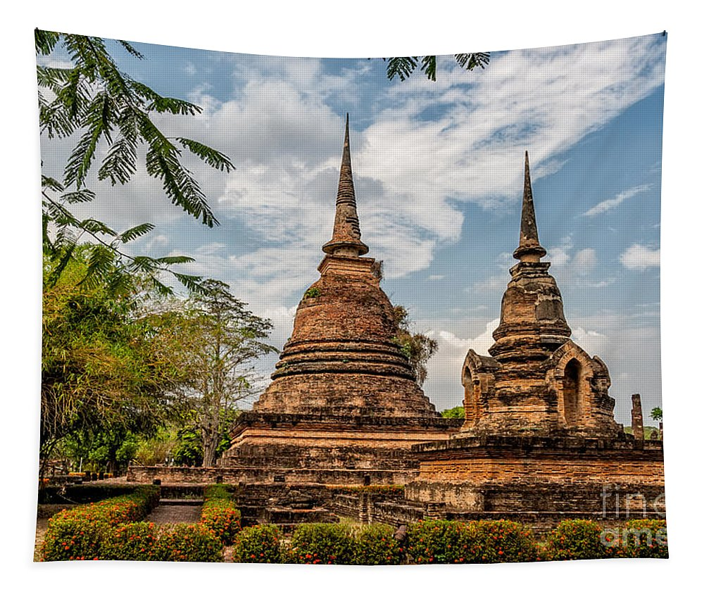 Temple Tapestry featuring the photograph Buddhist Park by Adrian Evans