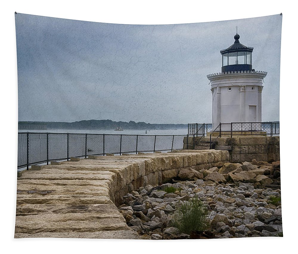 Atlantic Tapestry featuring the photograph Bug Light by Joan Carroll