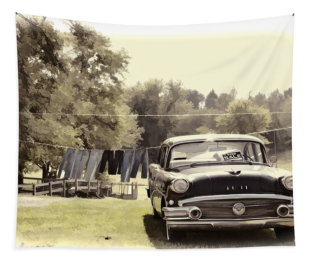 Buick Car Automobile Clothes Hanging Tapestry featuring the photograph Buick For Sale Two by Alice Gipson