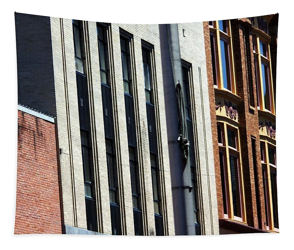 Buildings Tapestry featuring the photograph Building Lines by Karl Rose