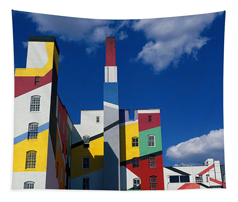 Photography Tapestry featuring the photograph Building With Geometric Decorations by Panoramic Images