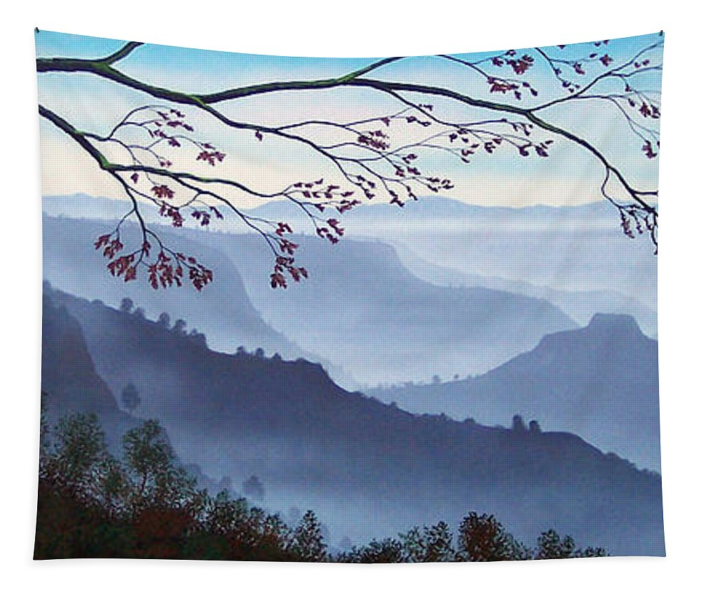 Mural Tapestry featuring the painting Butte Creek Canyon Mural by Frank Wilson