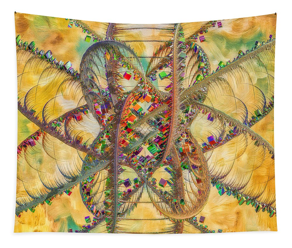 Butterfly Tapestry featuring the digital art Butterfly Concept by Deborah Benoit
