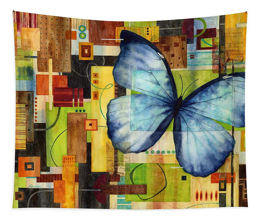 Butterfly Tapestry featuring the painting Butterfly Effect by Hailey E Herrera