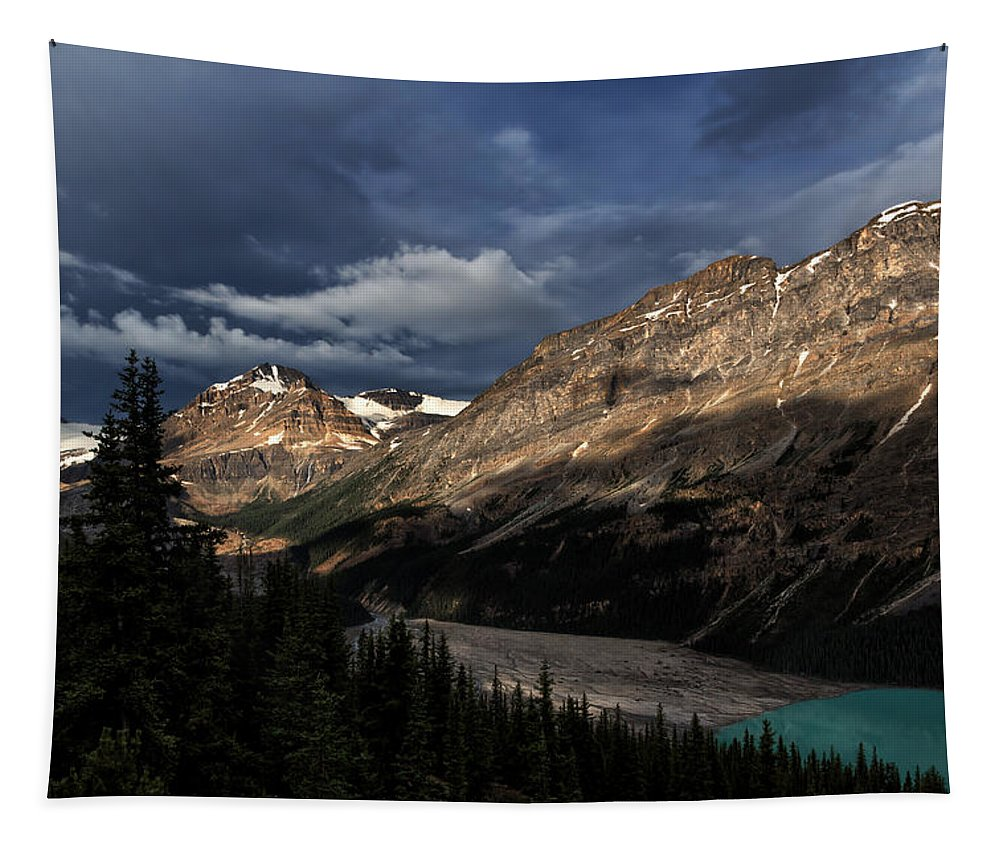 Banff National Park Tapestry featuring the photograph Caldron Peak by Kathleen Bishop