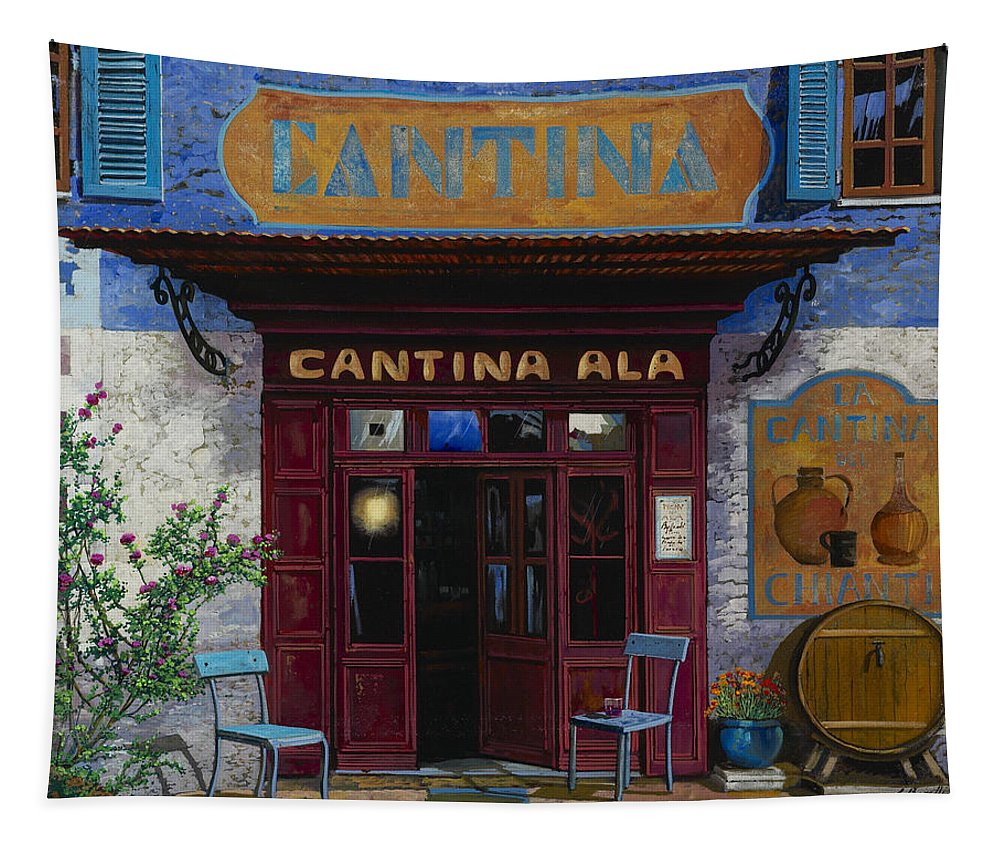 Cantina Tapestry featuring the painting cantina Ala by Guido Borelli