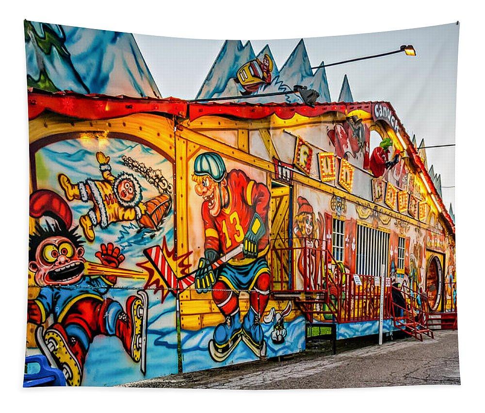 Steve Harrington Tapestry featuring the photograph Canuck Funhouse 2 by Steve Harrington