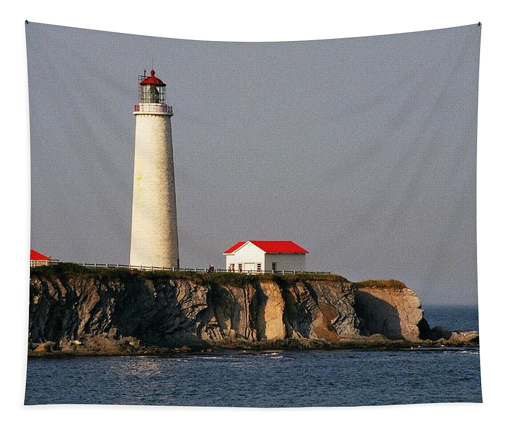 North America Tapestry featuring the photograph Cap Des Rosiers - Quebec by Juergen Weiss