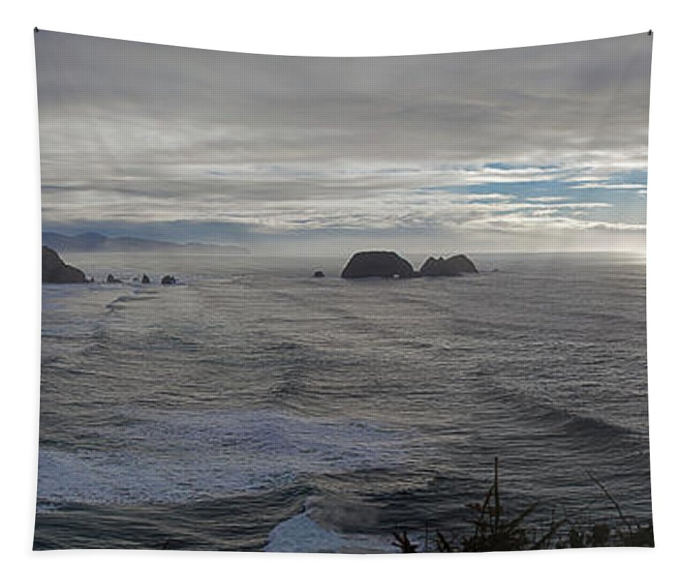 Cape Mears Tapestry featuring the photograph Cape Mears Storms by Mike Reid