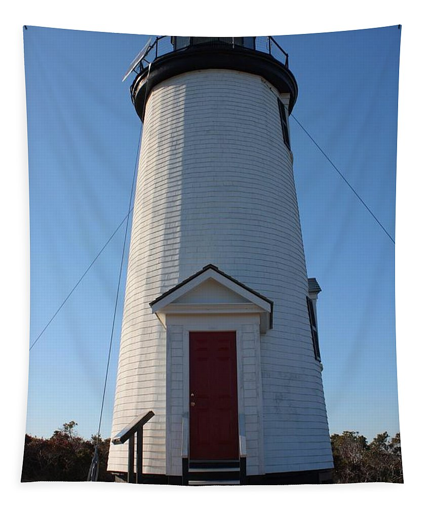 Cape Poge Tapestry featuring the photograph Cape Poge Lighthouse by Carol Groenen