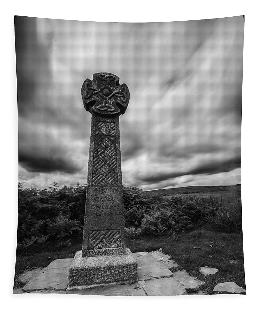 Capel Gwladys Tapestry featuring the photograph Capel Gwladys Mono by Steve Purnell
