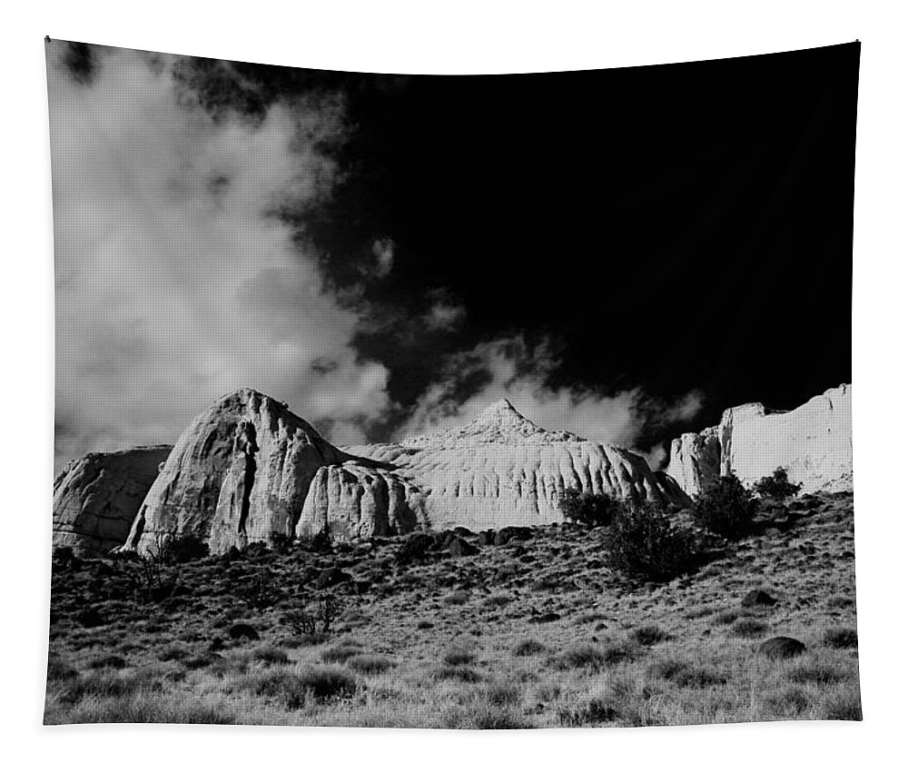 Tapestry featuring the photograph Capital Reef National Park In Black And White by Jeff Swan