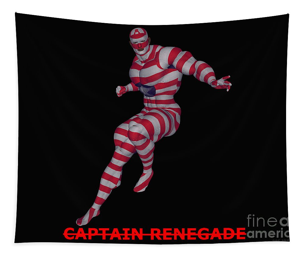 Captain Renegade Tapestry featuring the digital art Captain Renegade by R Muirhead Art