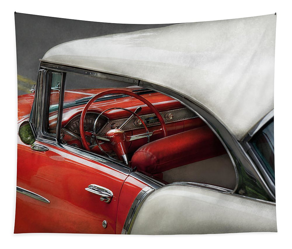 Car Tapestry featuring the photograph Car - Classic 50's by Mike Savad