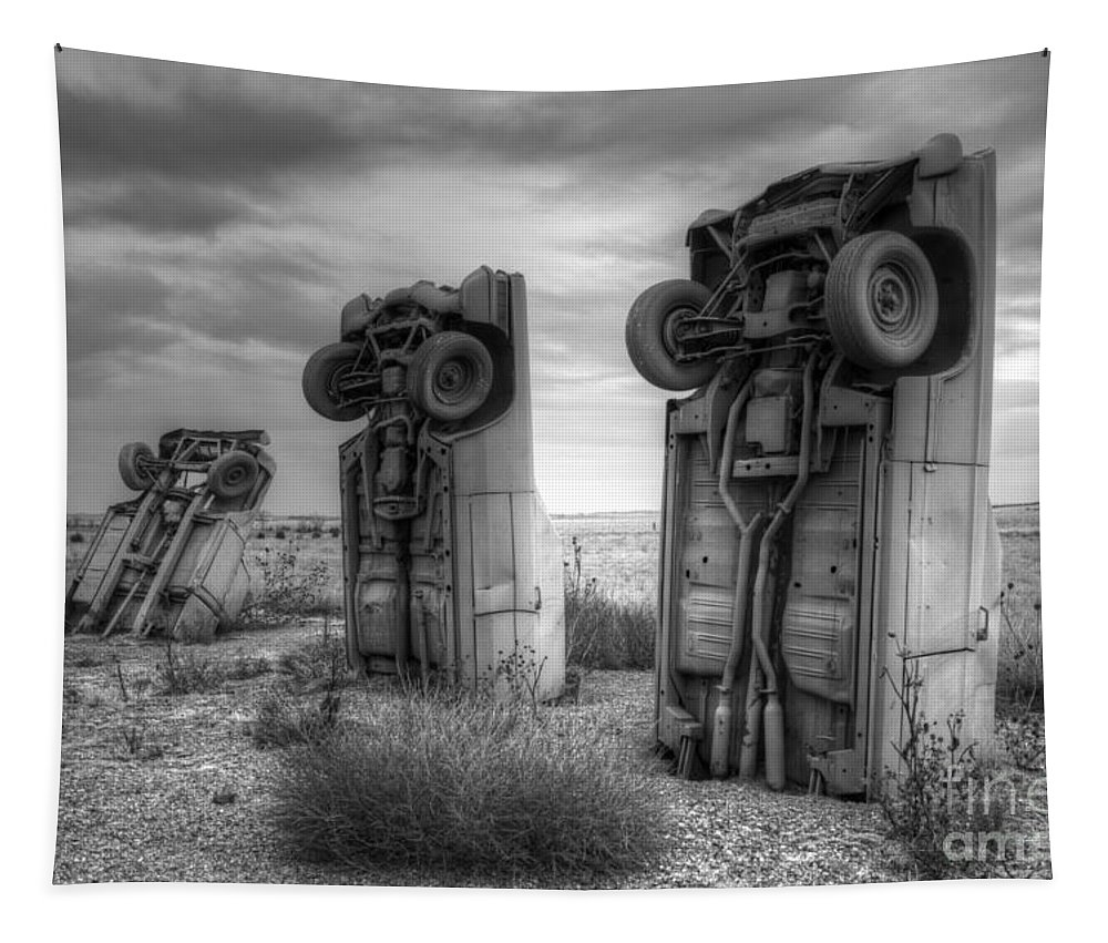 Carhenge Tapestry featuring the photograph Carhenge Automobile Art 3 by Bob Christopher