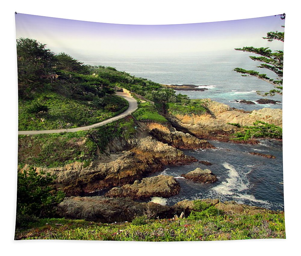 Carmel Tapestry featuring the photograph Carmel Highlands by Joyce Dickens
