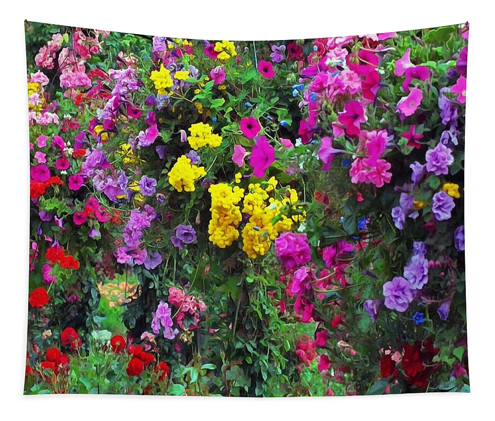 Carnival Flowers Tapestry featuring the photograph Carnival Flowers by Sergey Lukashin