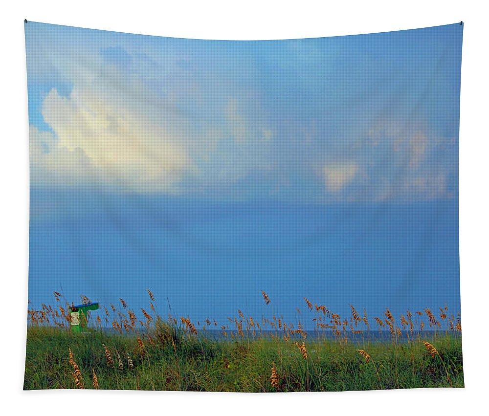 Carolina Beach Tapestry featuring the photograph Carolina Beach Afternoon by Cynthia Guinn