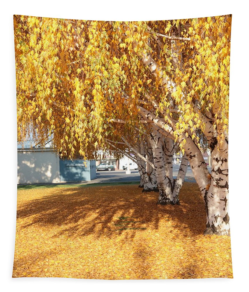 Tapestry featuring the photograph Carpet Of Yellow Leaves by Carol Groenen